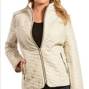 Jane Ashley light weight cream quilted jacket